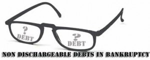 Non Dischargeable debts