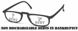 Non Dischargeable debts