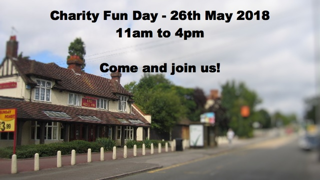 Charity Fun Day – 26th May 2018 – 11am to 4pm – Bell Inn Tile Hill