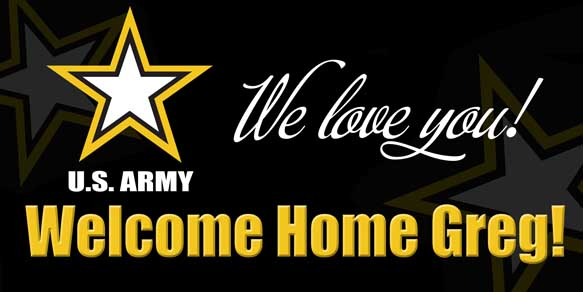 Welcome Home Military Banner Ideas