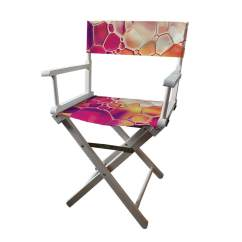 Customized Directors Chair Clear Chairs For Wedding Personalised Full Colour Printed From