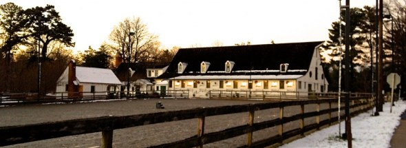 Chevy Chase Stables after the first snow day
