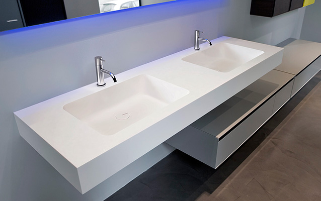 Encimeras Corian lavabos a medida platos de ducha  Baos de autor