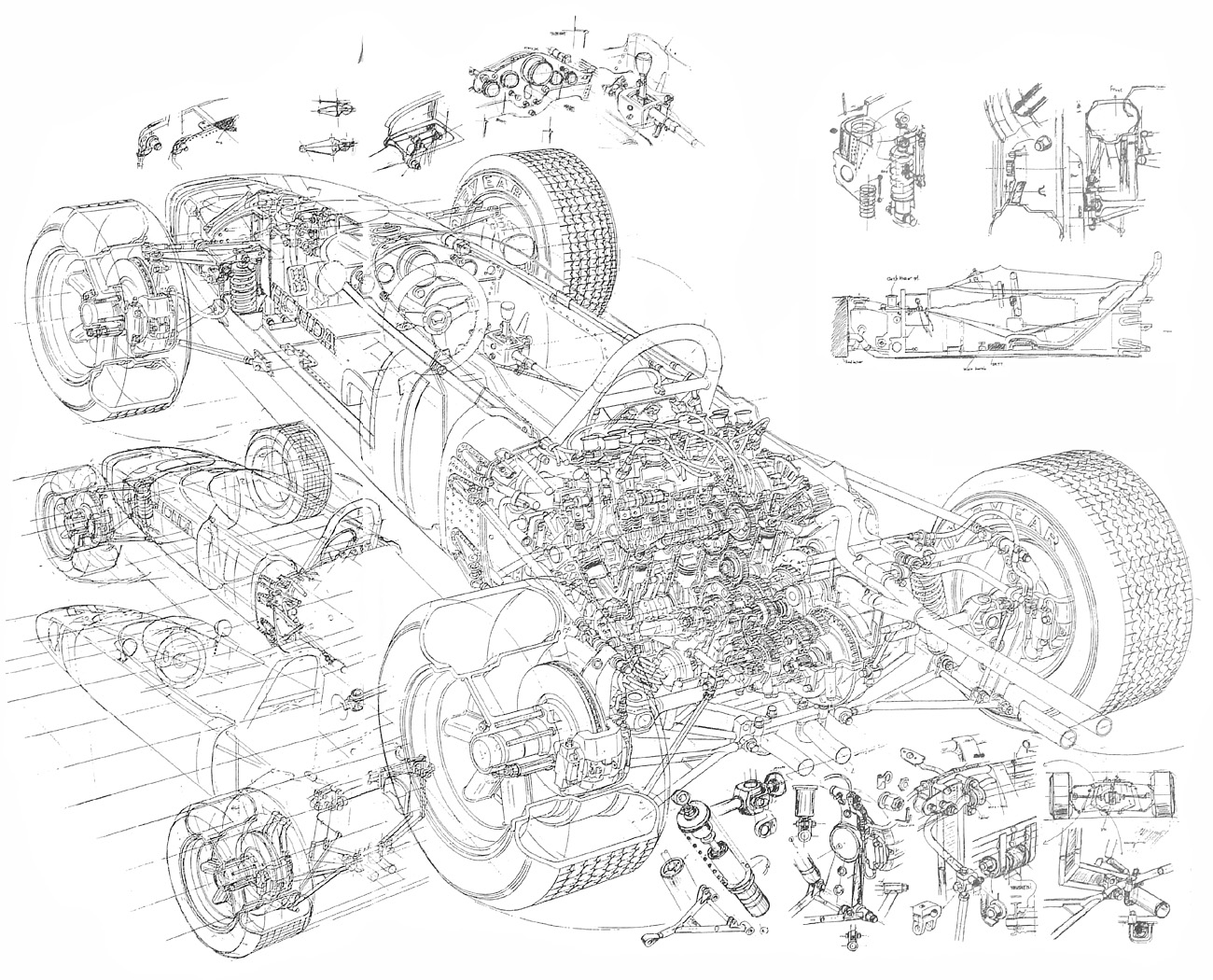 Picture Of The Week Honda Ra272 Cutaway Drawing