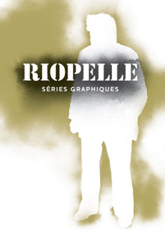 Poster for Riopelle – Séries graphiques by Philippe Legris Design.