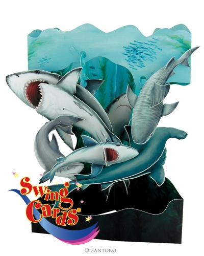 swing carte 3D Santoro Londres - Requins