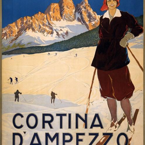 Ski, Cortina D'Ampezzo, Banque de l'image