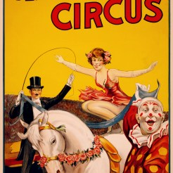 Gentry_Bros._Circus_poster_featuring_Miss_Louise_Hilton,_1920-22