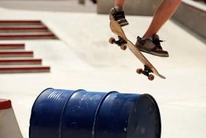 skateboard, banque de l'image