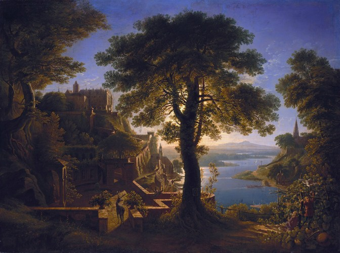 Karl Friedrich Schinkel, Castle by the River, 1820