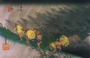 Hiroshige,_Travellers_surprised_by_sudden_rain