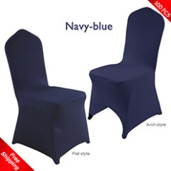 Blue Spandex Chair Covers Accent Sale Cover For Wedding Stretch Lycra Promotional Free Shipping 100 Pcs Navy