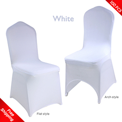 cheap white chair covers used outdoor chairs spandex cover for wedding stretch lycra promotional free shipping 100 pcs