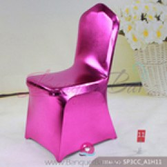 Hot Pink Spandex Chair Covers Antique Morris Chairs Metallic Cover Shiny Lycra Metal Coated Fuchsin Hotpink Stretch