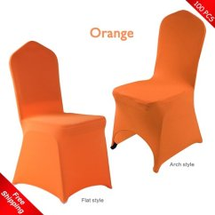 Stretch Chair Covers Ball As Desk 100 Pcs Free Shipping Orange Spandex Lycra 100pcs