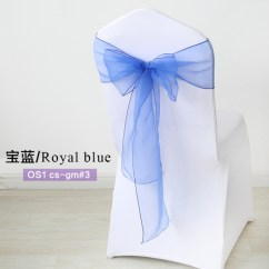 Banquet Chair Covers For Sale Malaysia Portable Gaming Chairs Royal Blue Crystal Organza Sash Wedding