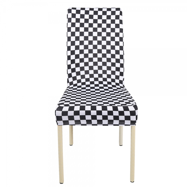 black banquet chair covers for sale outside cushions white checked spandex half 2 00
