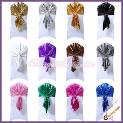 Chair Caps Covers Exercise Games For Seniors Cap Banquet Bar Spandex Cocktail Table Stretch Metallic