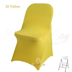 Yellow Spandex Chair Sashes Race Gaming Cocktail Table Covers Stretch For Wedding Folding Cover