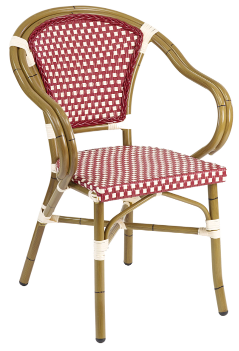 green french bistro chairs pottery barn baby rattan outdoor arm chair