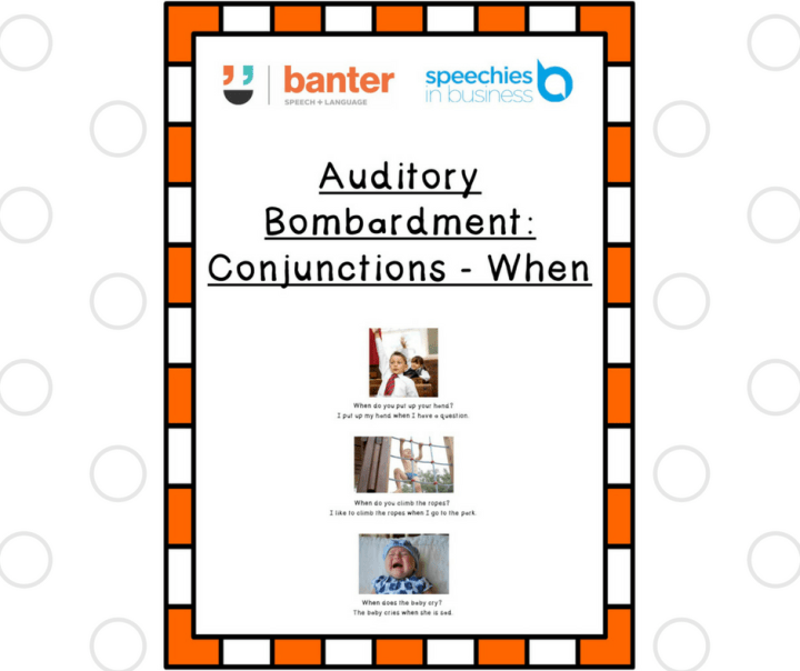 Auditory Bombardment: Conjunctions - When
