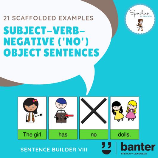 Subject Verb Negative (No) Object Sentences