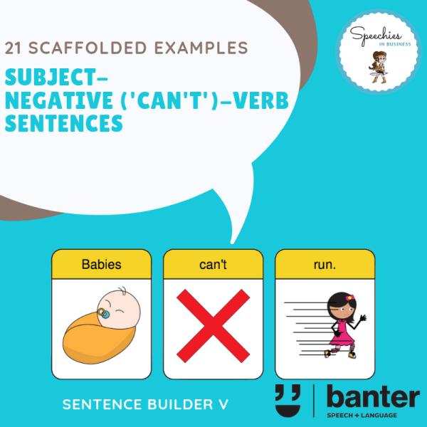 Subject Negative (Can't) Verb Sentences