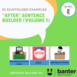 AFTER Sentence builder
