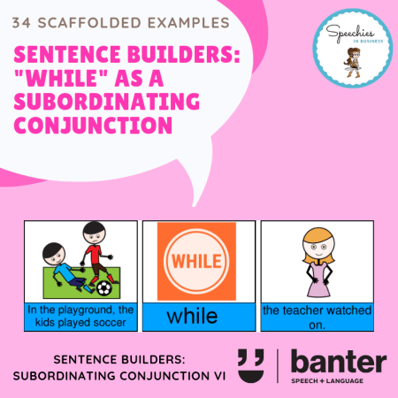 WHILE (as a subordinating conjunction) Sentences