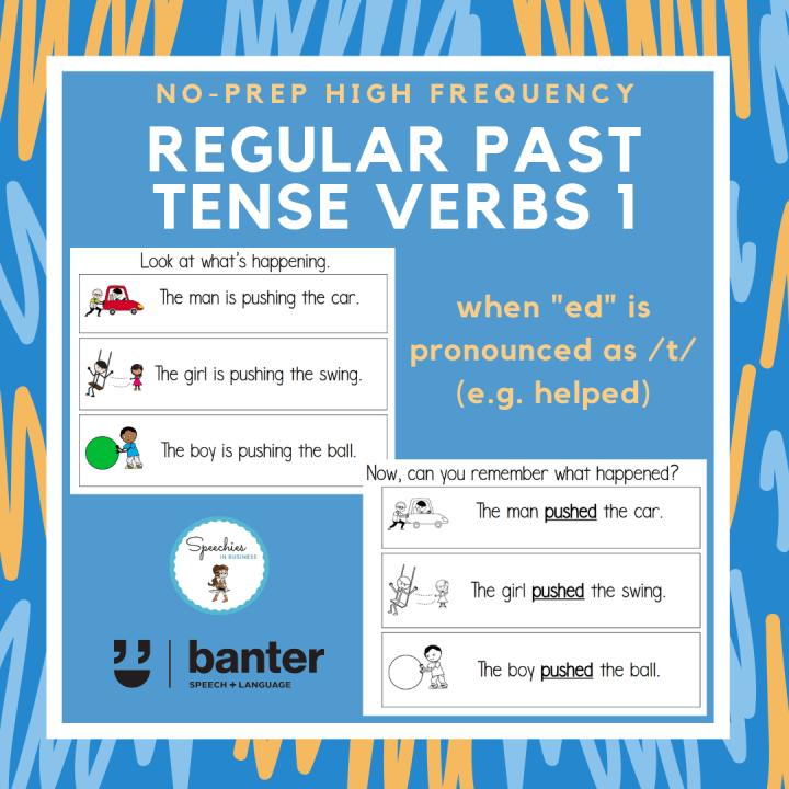 Regular Past Tense Verbs 1