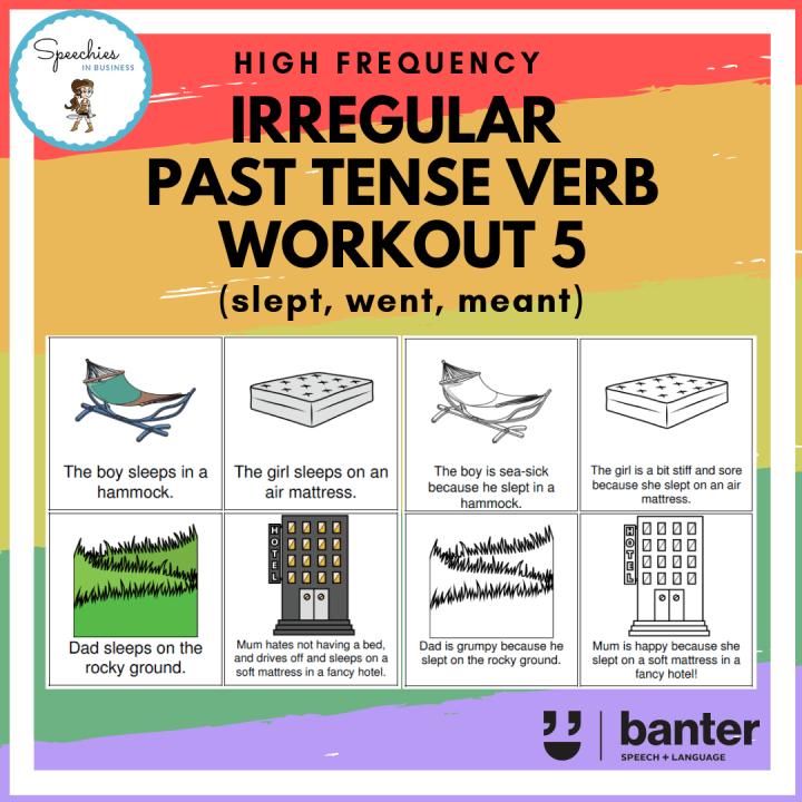 irregular past tense verb work out 5