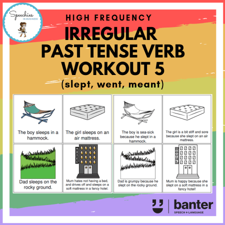 irregular past tense verb work out 5