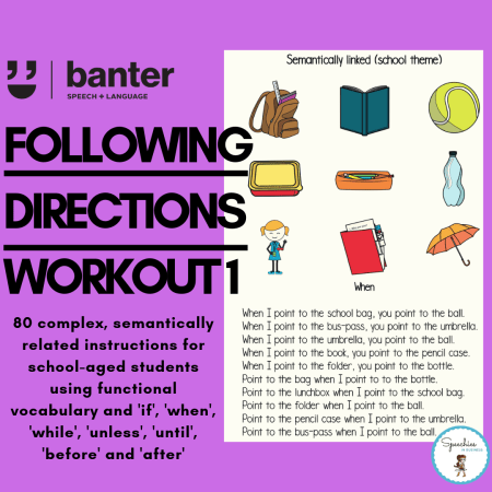 following directions workout 1