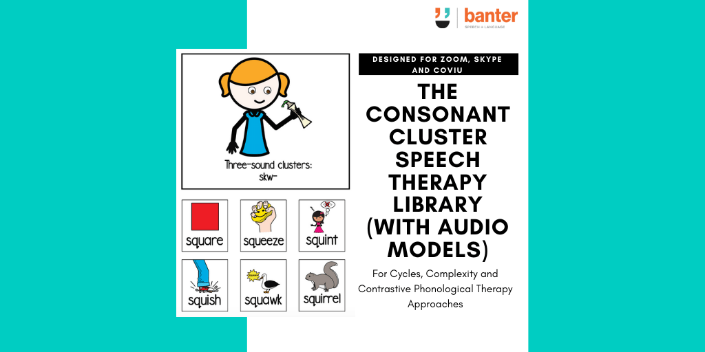 The Consonant Cluster Speech Therapy Library (with audio models)