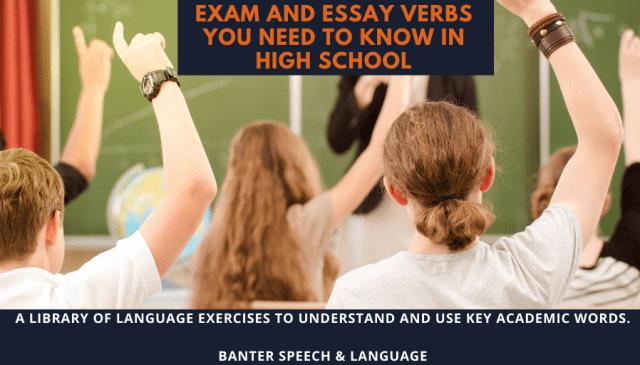 Exam and Essay Verbs