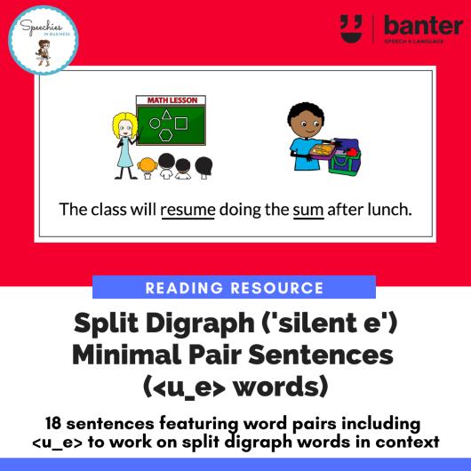 Split Digraph Minimal Pair Sentences u_e