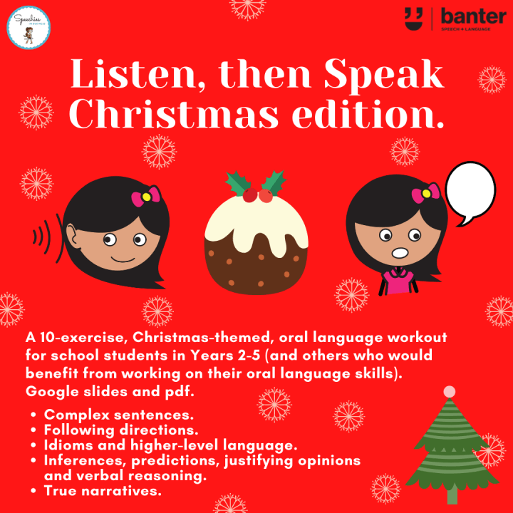 Listen, then speak Christmas edition