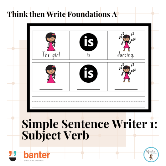 Simple Sentence Writer 1: Subject Verb Sentences