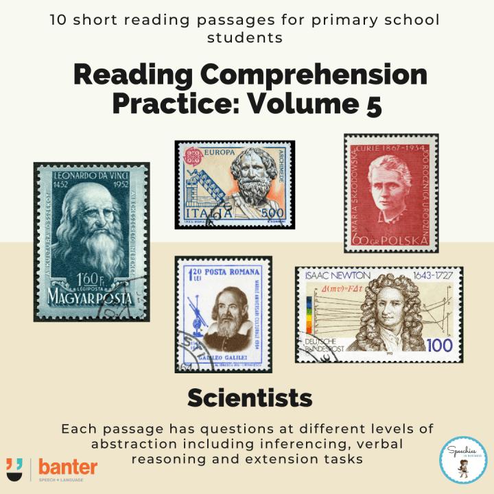 Reading Comprehension Practice Volume 5 Scientists