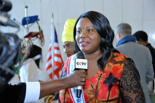 Kimma Wreh, is the official representative for fashion and textile manufacturing in Libeira. During the Africa Fashion Business Summit, Wreh takes on-camera interviews to publicize Liberia's country cloths and ready to wear apparel.