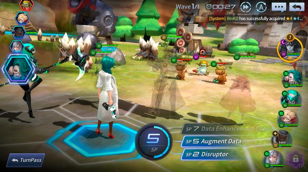 Combate del juego Gate Six: Cyber Persona.