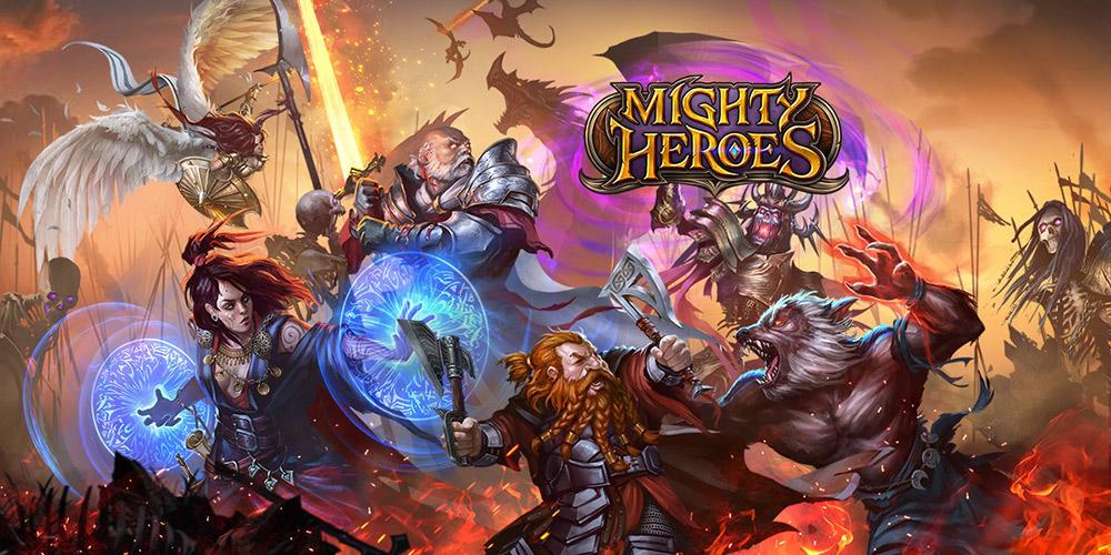 Portada del juego Mighty Heroes.
