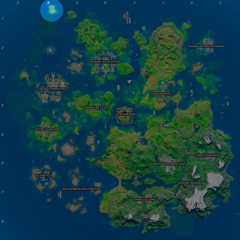 Mapa desafío secreto en Fortnite