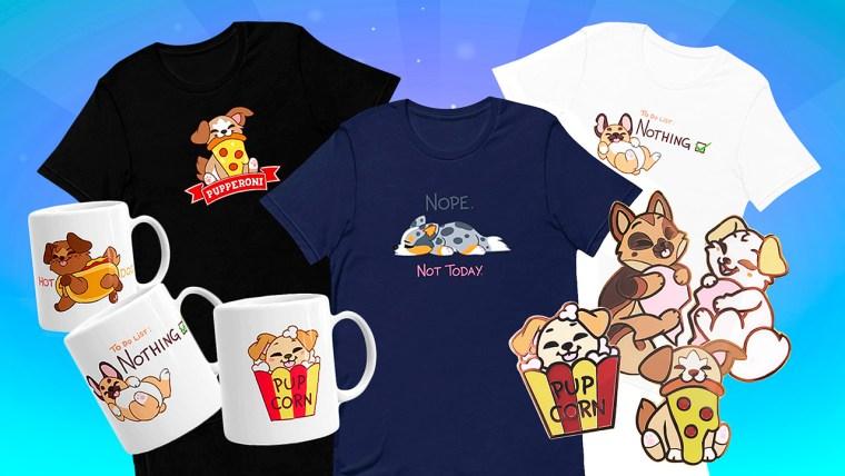 dungeons dogs merchandise: camisetas, pines y tazones