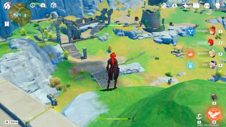 genshin impact criaturas color marrón paso lingju ruinas de dunyu guardianes de la ruina y cazador de las ruinas