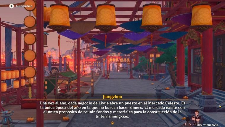 genshin impact evento rito de la linterna el origen de las linternas mercado celeste