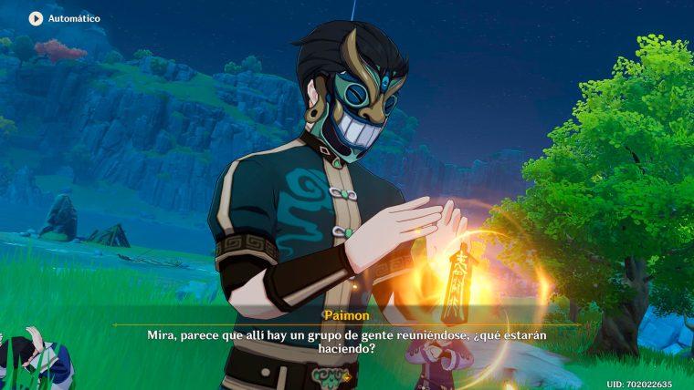 genshin impact evento rito de la linterna rey de las alas doradas ladron de estrellas