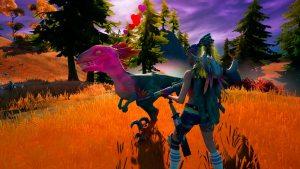 Domar velocirraptor en Fortnite