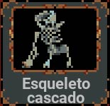 Esqueleto cascado en Loop Hero