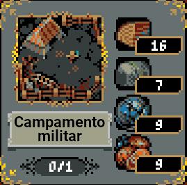Campamento militar en Loop Hero